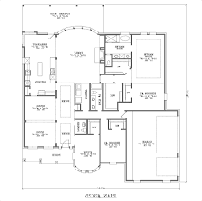 1 Bedroom House Floor Plans Home Design Low Cost Single Story 4 Bedroom House Floor Plans