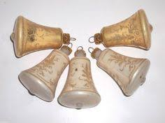 Glass Bell Christmas Ornaments - vintage shiny brite blown glass bell christmas ornaments lot of 9