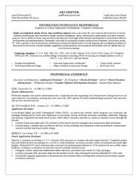 Sample Resume Of Software Developer by Dba Resume Example