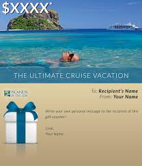 travel gift certificates gift vouchers islands in the sun