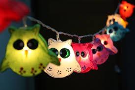 Owl Patio Lights Owl Bird Fancy Lantern Battery Operated String Lights Patio