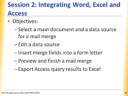 office 2013 mail merge integrating word excel access and powerpoint ppt video online