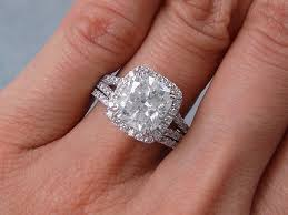 diamond wedding ring sets 3 69 ctw cushion cut diamond wedding ring set h si3 includes a