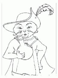 talking donkey puss boots coloring print free