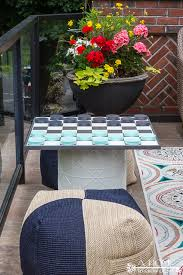 Outdoor Checker Table Made From Diy Oversized Checkerboard A Home To Grow In