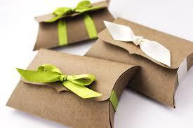 ribbon holders kraft pillow boxes 10 medium ribbon tie gift card holder