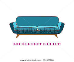 mid century furniture vector download free vector art stock