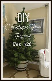 diy christmas tree barrel stand slightly coastal