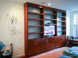 cherry and grey built in tv bookcase springhouse shop u0026 studio