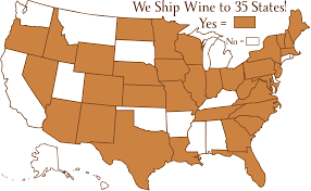 Columbia Missouri Map Adirondack Winery Legal Terms Of Use Shipping Policies