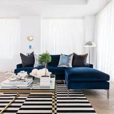 Blue Sectional Sofa With Chaise Gorgeous 15 Trendy Velvet Sofas For A Refined Touch Shelterness Of