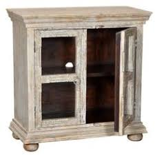 rustic wood display cabinet 38 hand carved mango wood glass display cabinet antique white