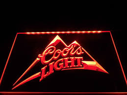 coors light beer bar pub logo led sign u2013 vintagily
