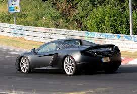camo mclaren spyshots 2014 mclaren mp4 12c facelift updated autoevolution