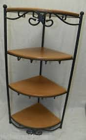 Longaberger Bakers Rack Wrought Iron Corner Shelf Foter