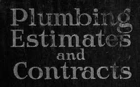 Plumber Estimate by Plumbing Estimates And Contracts By J J Cosgrove