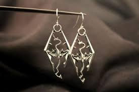 skyrim earrings silver imperial legion dragonborngeekify inc