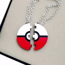 couples necklace 2016 new go pokeball pendant necklace must couples