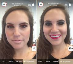 photo face makeup screenshot makeup genius app for android augmented reality mirror iphoneness previousnext