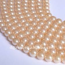 ivory pearl 10mm ivory color high quality faux pearl of glass