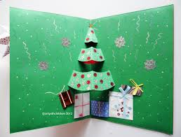 Arts And Crafts Christmas Tree - christmas tree pop up card