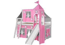Bunk Bed With Slide And Tent Pink Cottage White Jr Tent Loft Bed With Slide Top Tent And