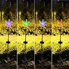 fashionlite solar powered stake lawn led light seven