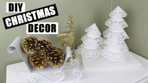 diy christmas decor ideas how to make paper doily xmas trees
