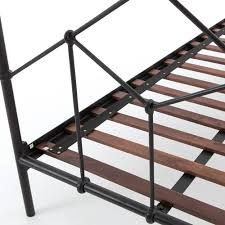 Vintage Handrail Casey Vintage Black Iron Queen Platform Bed Zin Home