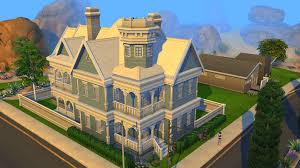 sims 4 blue victorian house by ramborocky on deviantart