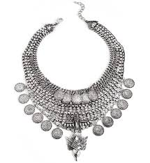 big necklace silver images Silver big shot statement necklace jpg