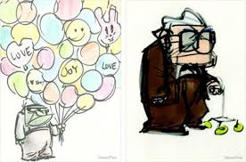 up u0027 early sketches from pixar u0027s vault photo huffpost