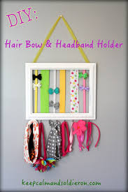 headband organizer diy hair bow headband holder