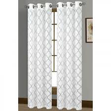 window elements lattice cotton blend burnout sheer 76 x 84 in