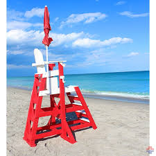 everondack proseries tall lifeguard chair front ladder tlg 655