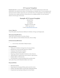 Job Resume Example For First Job by Job Cv Structure