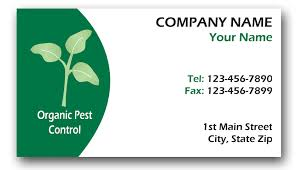 organic pest business cards custom printing