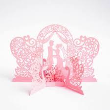 Princess Invitation Card Aliexpress Com Buy 50pcs Romantic 3d Pop Up Cards Wedding