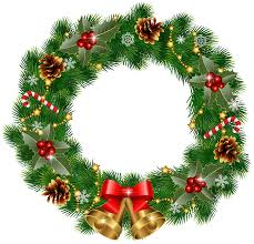 christmas wreath with bells png clipart image gallery