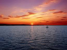 sunset sky sea sailboat desktop wallpaper sunset hd 16 9 high
