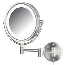 Magnifying Bathroom Mirror With Light Wall Mounted Lighted Magnifying Bathroom Mirror Home Designs