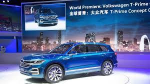 Future Vw Touareg Vw Touareg 2017 World Premiere T Prime Concept Gte In Beijing