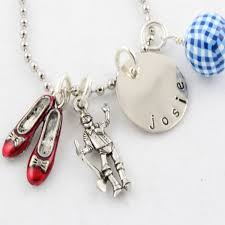 personalized charm necklaces personalized sted jewelry wizard of oz necklace charm