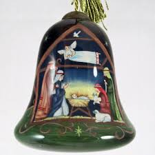 away in a manger ornament ne qwa painted glass 7151171