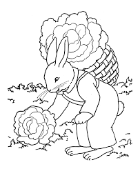 easter bunny coloring pages farmer bunny printable easter bunny