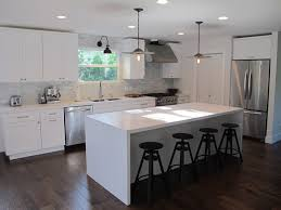 kitchen island with seating wall mounted waterfall tap bedroom