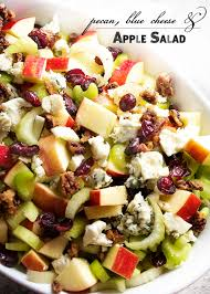 fruit salads for thanksgiving pecan blue cheese and apple salad just a little bit of bacon