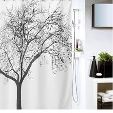 aliexpress com buy 180 180cm bathroom shower curtains black tree