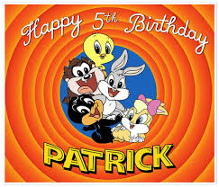 looney tunes baby looney tunes birthday banner personalized party backdrop