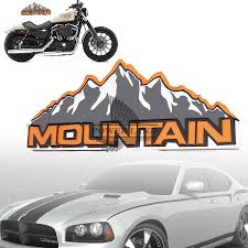 jeep grill sticker car styling refitting car motorcycle mountain logo decal aluminum